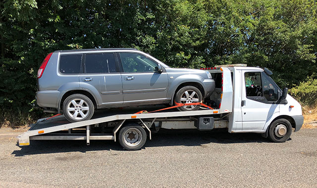 scrap car towing